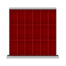 """CLDR018-75 - Image-1 - CL 2"""" Drawer Divider Kit, 18 Plastic Boxes"""