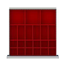 """CLDR021-75 - Image-1 - CL 2"""" Drawer Divider Kit, 21 Plastic Boxes"""