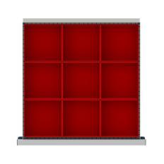 """CLDR009-75 - Image-1 - CL 2"""" Drawer Divider Kit, 9 Plastic Boxes"""