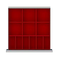 """CLDR012-75 - Image-1 - CL 2"""" Drawer Divider Kit,12 Plastic Boxes"""