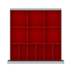 """CLDR012-100 - Image-1 - CL 3"""" Drawer Divider Kit,12 Plastic Boxes"""