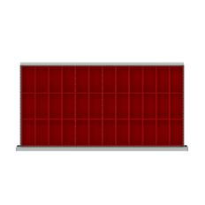 "HDR036-75 - Image-1 - HS 2"" Drawer Divider Kit, 36 Plastic Boxes"