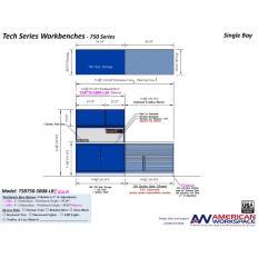 TSB750-SB08-LB2 Single Bay Workbench, Image 15299.jpg