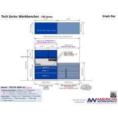 TSB750-SB09-LB2 Single Bay Workbench, Image 15300.jpg