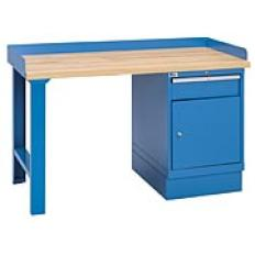 "XSWB30-60BT - Image-1 - 60"" Industrial Workbench with 1-Drawer Cabinet,Butcher Block Top"