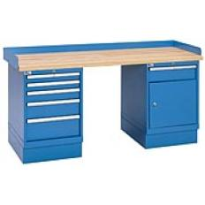 "XSWB53-72PT - Image-1 - 72"" Industrial Workbench with 2 Cabinets, Laminate Top"