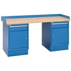 "XSWB72-72BT - Image-1 - 72"" Industrial Workbench with 2 Cabinets, Butcher Block Top"