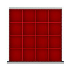 "DR016-75 - Image-1 - SC 2"" Drawer Divider Kit, 16 Plastic Boxes"