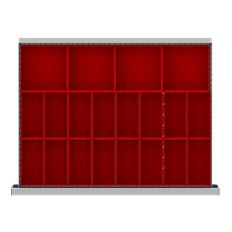 "SDR020-75 - Image-1 - ST 2"" Drawer Divider Kit, 20 Plastic Boxes"