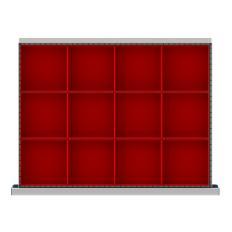 """SDR012-100 - Image-1 - ST 3"""" Drawer Divider Kit, 12 Plastic Boxes"""