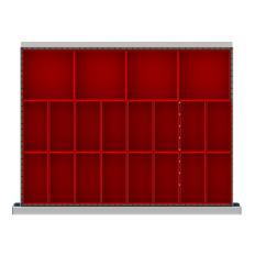 """SDR020-100 - Image-1 - ST 3"""" Drawer Divider Kit, 20 Plastic Boxes"""