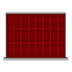 """SDR024-100 - Image-1 - ST 3"""" Drawer Divider Kit, 24 Plastic Boxes"""