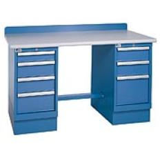 "XSTB41-60PT - Image-1 - 60"" Technical Workstation, 2 Cabinets, 7 Drawer, Laminate Top"