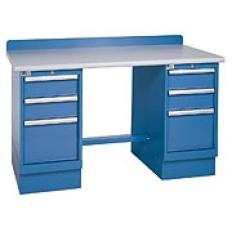"XSTB51-60PT - Image-1 - 60"" Technical Workstation, 2 Cabinets, 6 Drawer, Laminate Top"