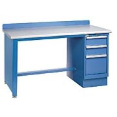 "XSTB20-60BT - Image-1 - 60"" Technical Workstation, 3-Drawer Cabinet, Wood Top"