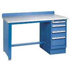 "XSTB31-60PT - Image-1 - 60"" Technical Workstation, 4-Drawer Cabinet, Laminate Top"