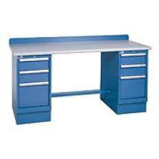 "XSTB53-72PT - Image-1 - 72"" Technical Workstation, 2 Cabinets, 6 Drawer, Laminate Top"