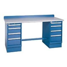 "XSTB63-72PT - Image-1 - 72"" Technical Workstation, 2 Cabinets, 8 Drawer, Laminate Top"