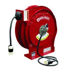 RC-L-5550-123-3 - Image-1 - 12-3 Wire, 25 Amp, 50', Single Outlet Electric Cord Reel