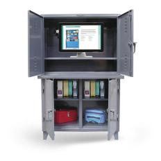 ST-46-CC-243 - Image-1 - 48x24x72 Computer and Locker Cabinet
