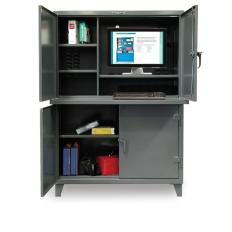 ST-4.56-CC-244 - Image-1 - 54x24x72 Two Compartment Computer Cabinet