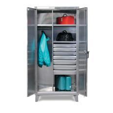 ST-46-W-244-4DB - Image-1 - 48x24x72 Wardrobe Cabinet, Drawers
