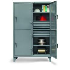 ST-106-24-2TPL-20DB - Image-1 - 122x24x72 Standard Locker, Drawers