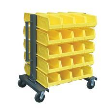 ST-3.33.2-BR-40CA - Image-1 - 37x28x40 Mobile Bin Storage Rack