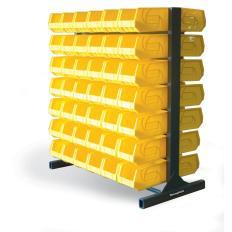 ST-55-BR-84 - Image-1 - 55x28x60 Two-Sided Bin Storage Rack