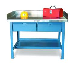 ST-T4836-2DB-SSTOP-BG - Image-1 - 48x36x34 Shop Table, Drawers, Stainless Top