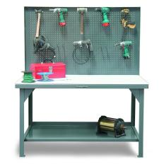 ST-T6036-PBB-UHMW-HKS - Image-1 - 60x36x34 Pegboard Shop Table