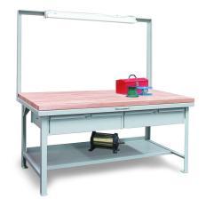 ST-T7236-FL-MT-2DB - Image-1 - 72x36x34 Overhead Light Shop Table