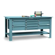 "ST-T7236-8DB-KL - Image-1 - 72x36x34 Steel TopTable, Drawers. 1/2"" Steel Top"
