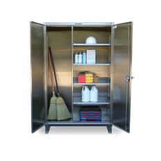 ST-56-BC-244-SS - Image-1 - 60x24x72 Stainless Broom Closet Cabinet