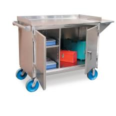 "ST-4-TC-261-VS-SS - Image-1 - 48x26x36 Mobile Cart, 8"" Casters"