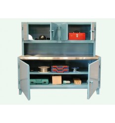 ST-63-WB-301-SSTOP-MOD - Image-1 - 72x30x60 Workstation, Compartments, Stainless Top