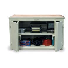 ST-73-361-MT-BFD - Image-1 - 84x36x37 Cabinet Workbench, Bi-Fold Doors