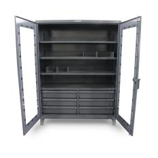 ST-66-LD-244-6/5DB-24DIV - Image-1 - 72x24x72 On-Site See-Thru Cabinet