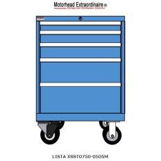 XSST0750-0505M ST750 5-Drawer Mobile Cabinet, Image 6989.jpg