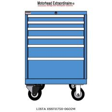 XSST0750-0602M ST750 6-Drawer Mobile Cabinet, Image 6990.jpg