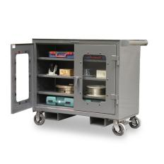 ST-4-TC-LD-243-FLP - Image-1 - 48x25x36 Clearview Mobile Work Cart