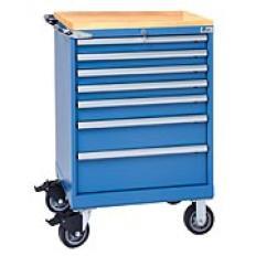 XSST0750-0701M-BT-BB ST750 7-Drawer Mobile Storage Cabinet,Wood Top, Image-7406