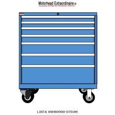XSHS0900-0704M HS900 7-Drawer Mobile Cabinet, Image 7569.jpg