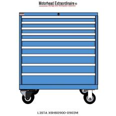 XSHS0900-0903M HS900 8-Drawer Mobile Cabinet, Image 7574.jpg