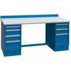 XSTB44-60SD 60x30 Bench,2 Cab,7 Drawer,ESD Top, Image-7637