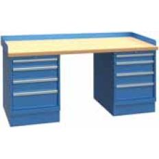 XSWB112-72BT 72x30 Workbench,1 Cab,9 Drawer,Wood Top, Image-7667