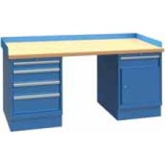 XSWB122-72BT 72x30 Workbench,2 Cab,5 Drawer,Wood Top, Image-7669