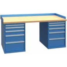 XSWB142-72BT 72x30 Workbench,1 Cab,10 Drawer,Wood Top, Image-7673