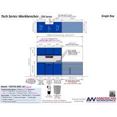 LISTA TSB750-SB01-LB2 - www.AmericanWorkspace.com/329-single-bay-tech-benches