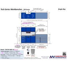 LISTA TSB750-SB02-LB2 - www.AmericanWorkspace.com/329-single-bay-tech-benches